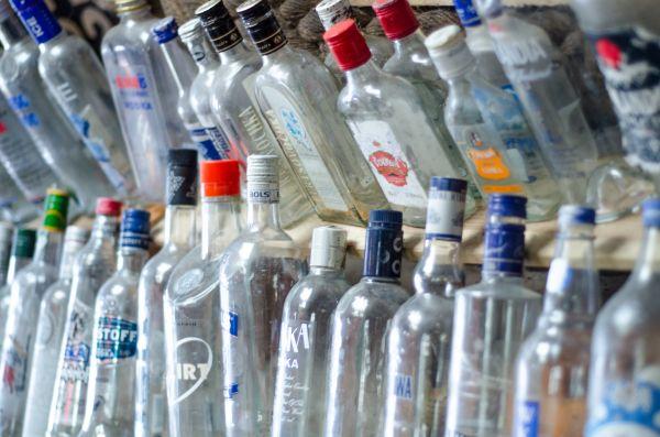 Washed up bottles photo