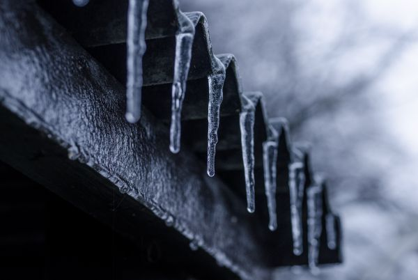Row of icicles photo