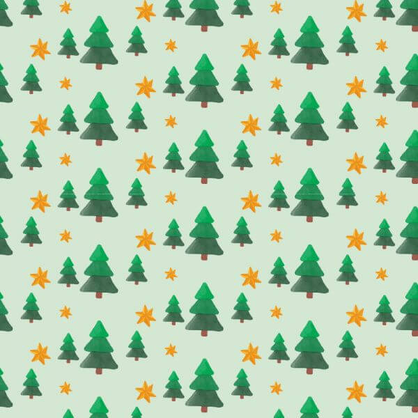 Christmas pattern with trees and stars vector