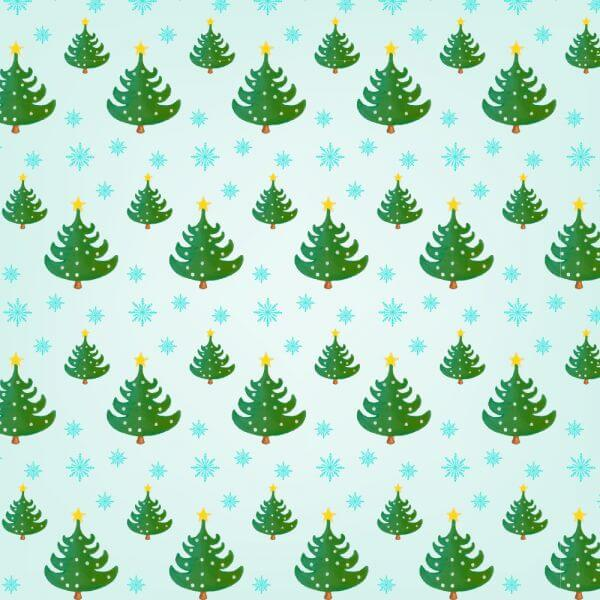 Christmas pattern with Christmas trees vector