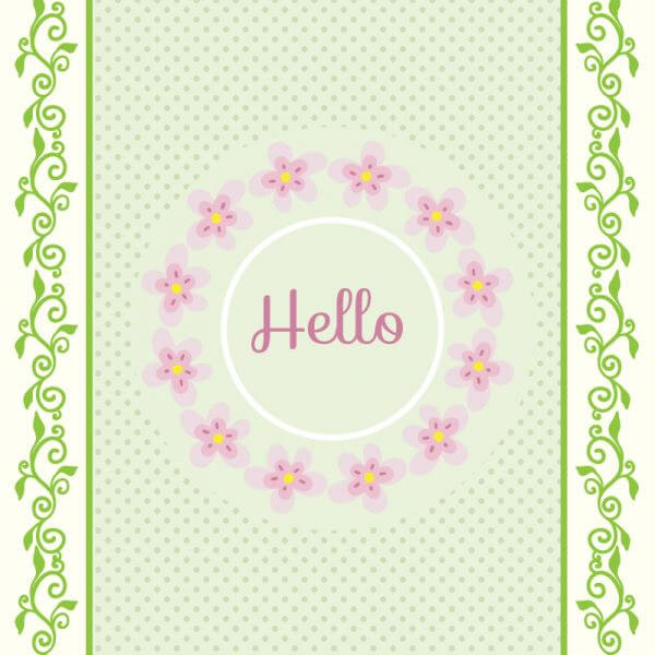 Spring illustration with frame vector