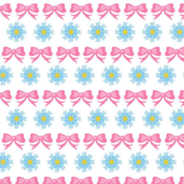 Floral pattern with bow vector