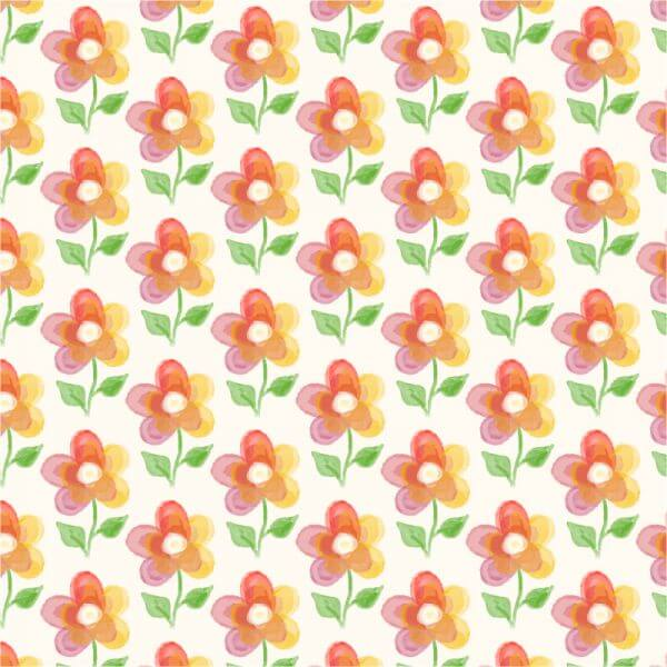 Floral background with watercolor flower vector