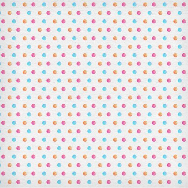 Watercolor polka pattern vector
