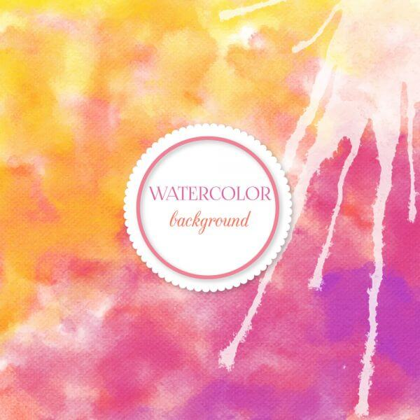 Watercolor background with frame vector