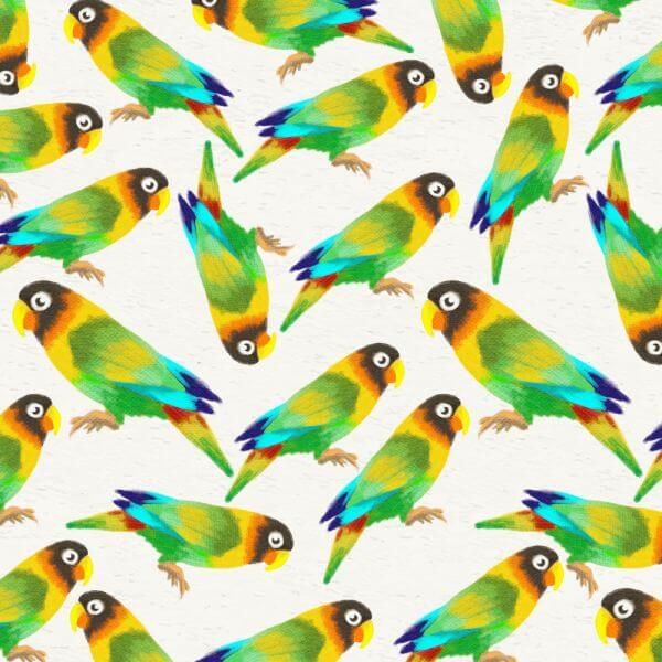 Watercolor background with parrots vector