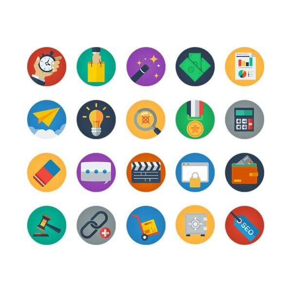 Colorful Flat Icons vector