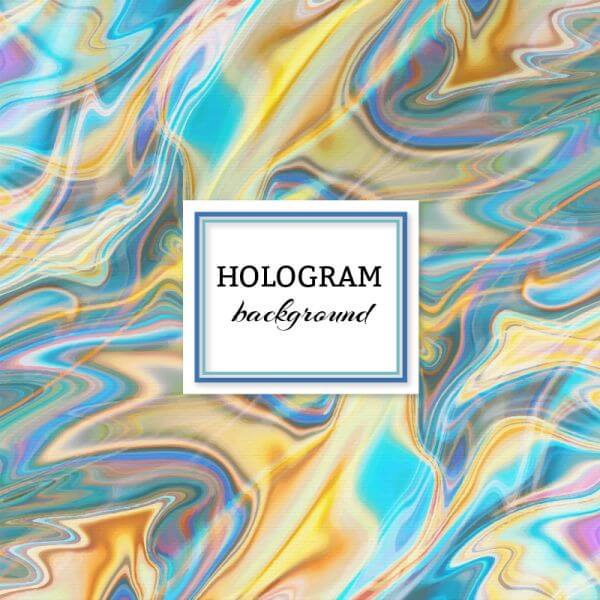 Hologram background vector