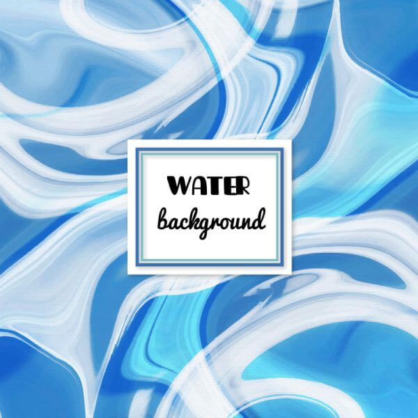 Water abstract background vector