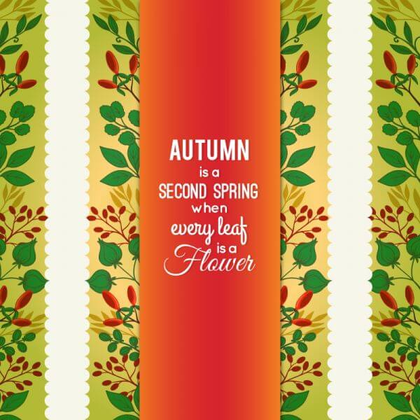 Autumn Floral Card vector