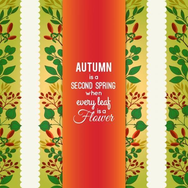 Autumn Floral Card vector