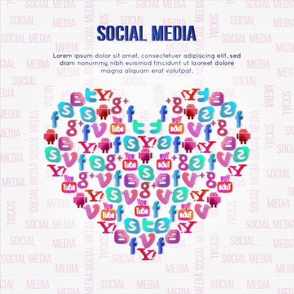 Social Media Illustration vector