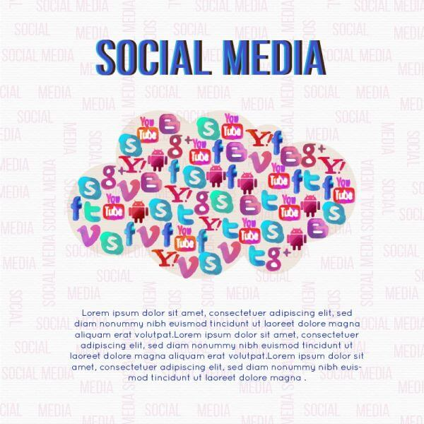 Social Media Cloud Illustration vector