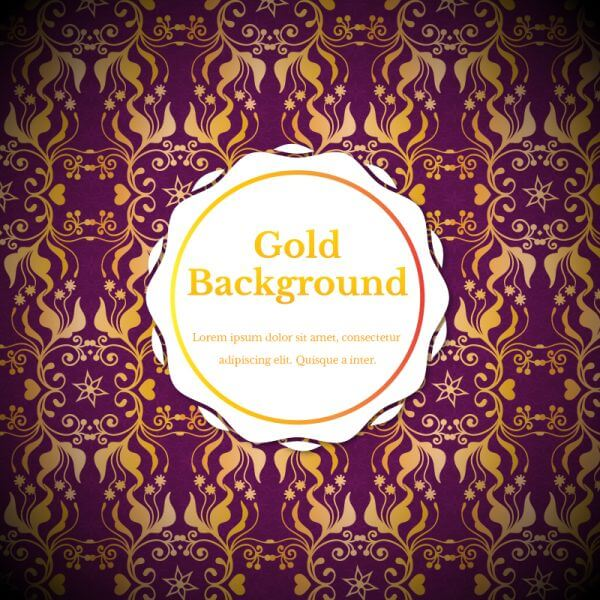Royal gold backgrounds vector