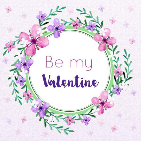 Valentine's Day Floral Frame vector