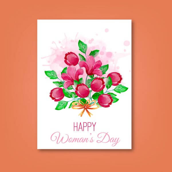 Women's Day Romantic Card vector