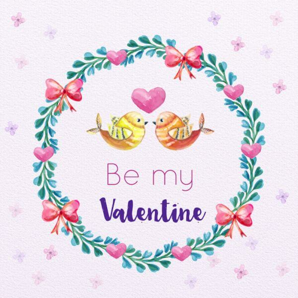 Valentine's Day Romantic Frame  vector