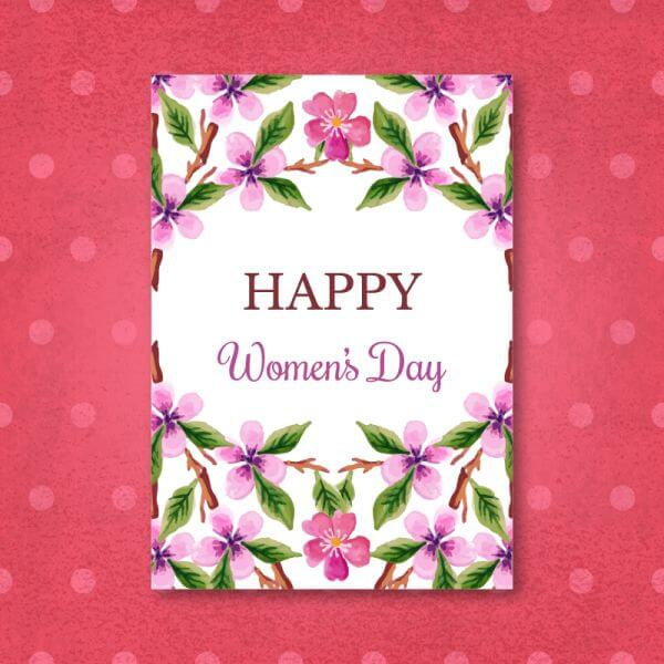 Watercolor Women'Day Cards vector