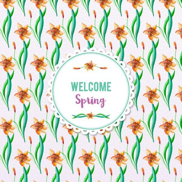 Spring Watercolor Floral Pattern vector