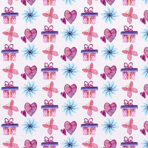 Cute Valentine's Day Pattern vector