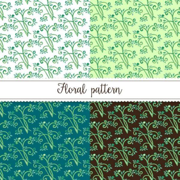 Ornamental watercolor pattern vector
