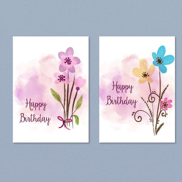 Floral card collection vector