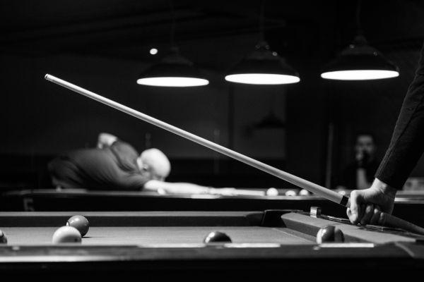 Shooting pool photo