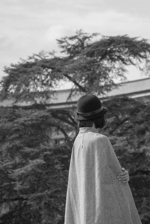 Woman in Black & White photo