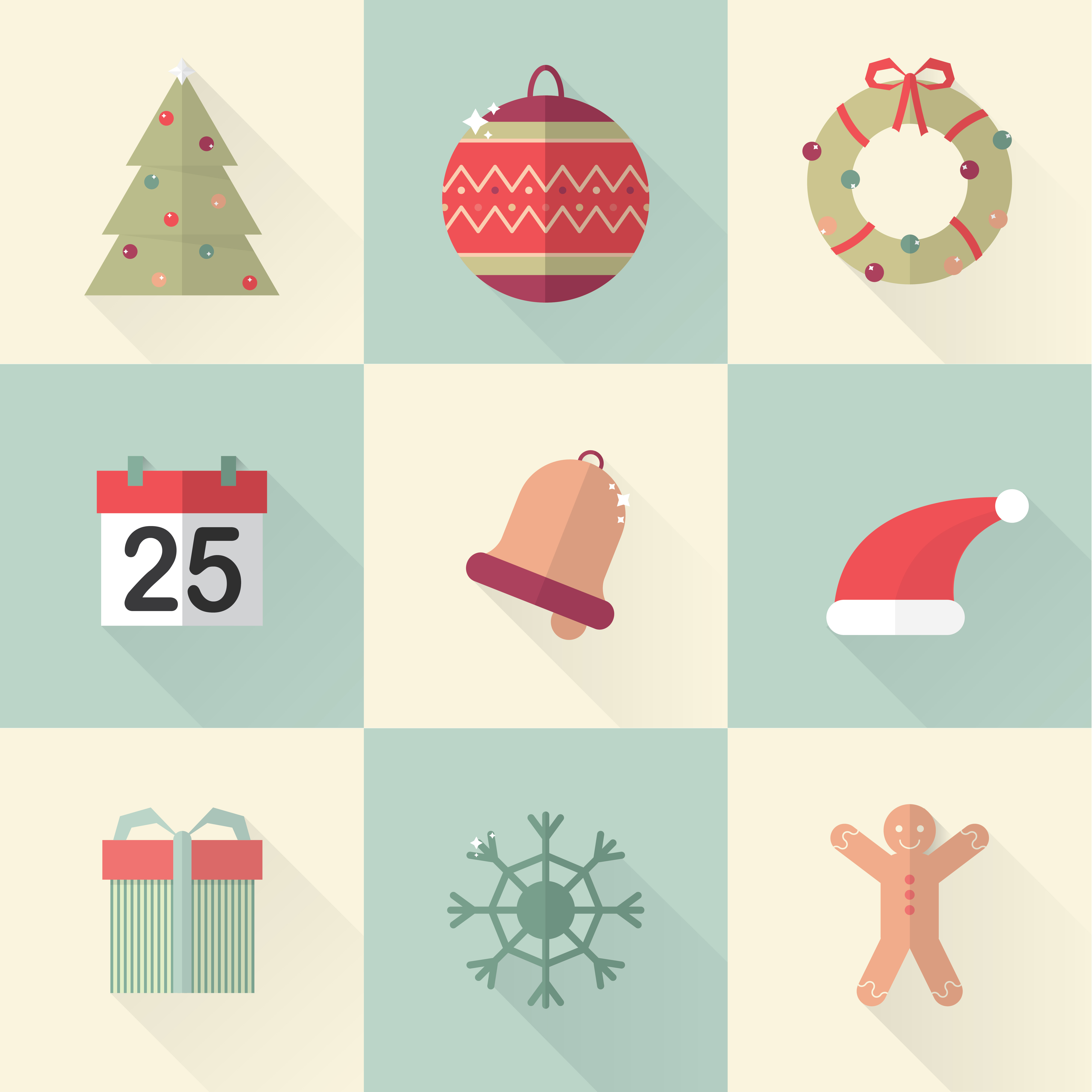 "Free vector ""Xmasicons 01"""