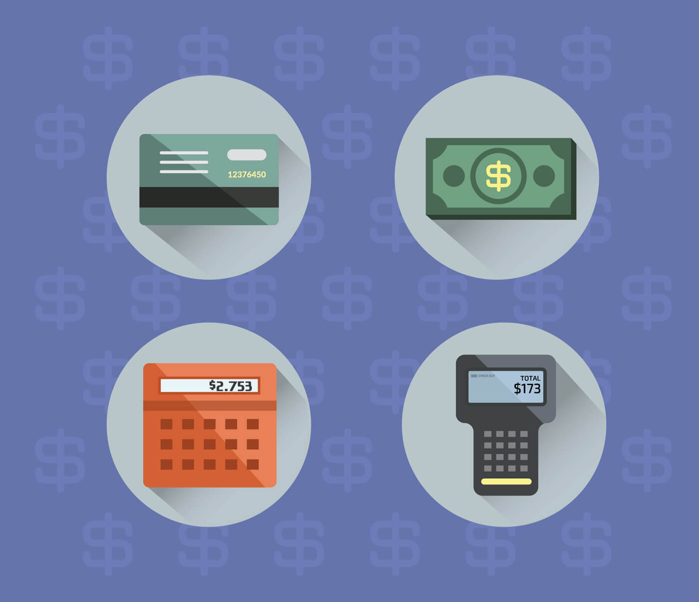 """Free vector """"Money objects for design. Vector illustration"""""""