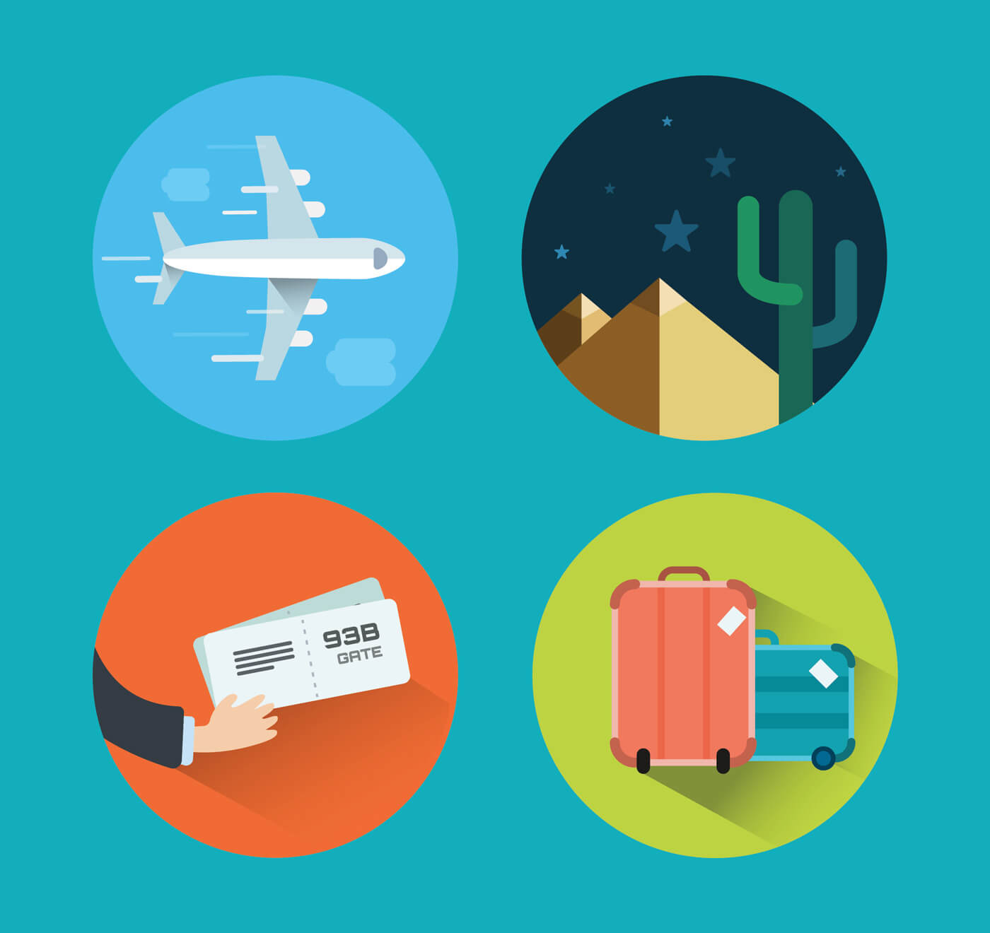 "Free vector ""Travel icons for design. Vector illustration"""
