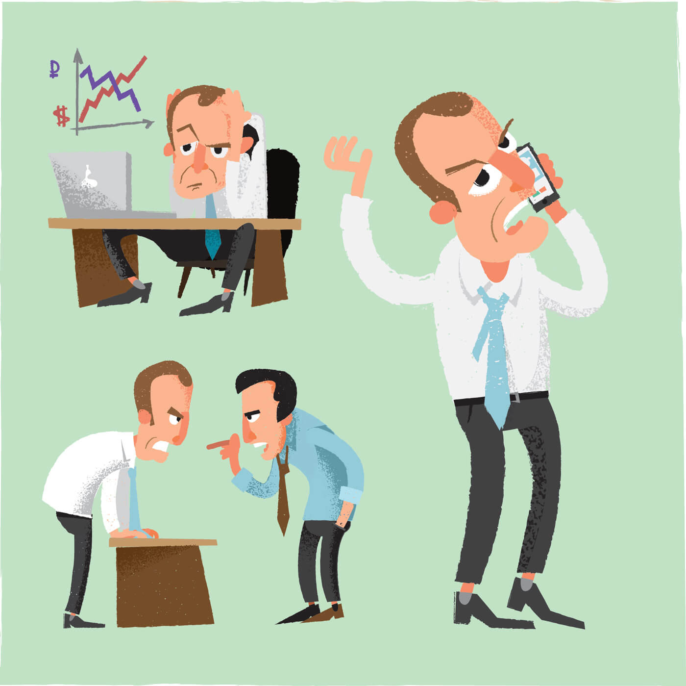 """Free vector """"Business man characters. Vector illustration"""""""