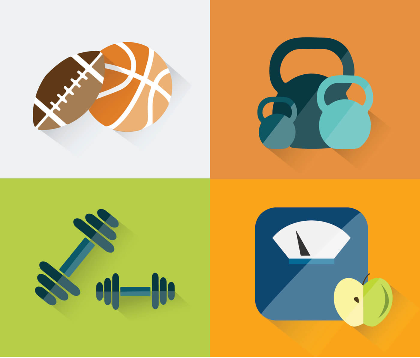 "Free vector ""Sport objects for design. Vector illustrations."""