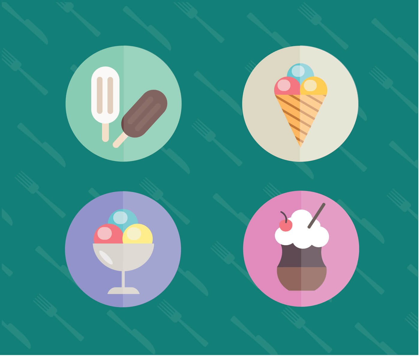 """Free vector """"Food objects for edsign. Vector illustrations"""""""