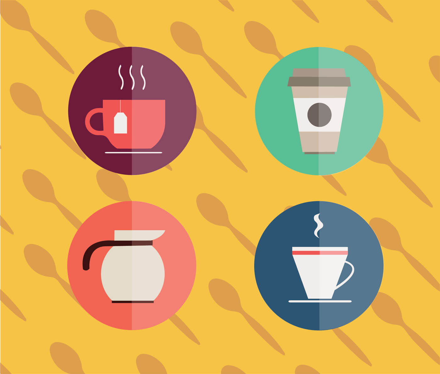 "Free vector ""Food objects for edsign. Vector illustrations"""