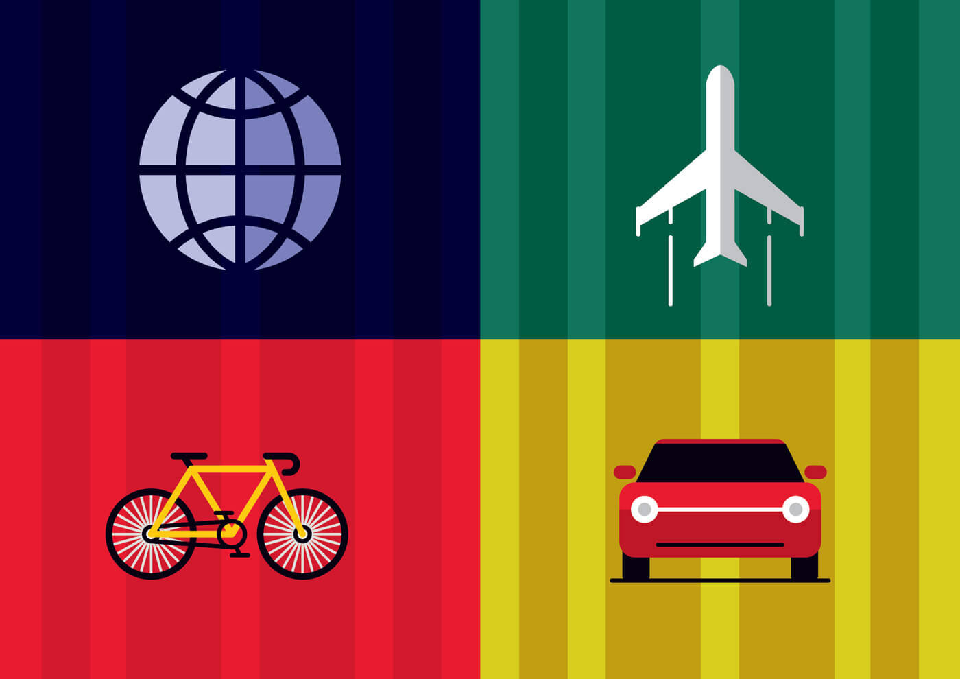 "Free vector ""Travel objects vector illustration for design"""