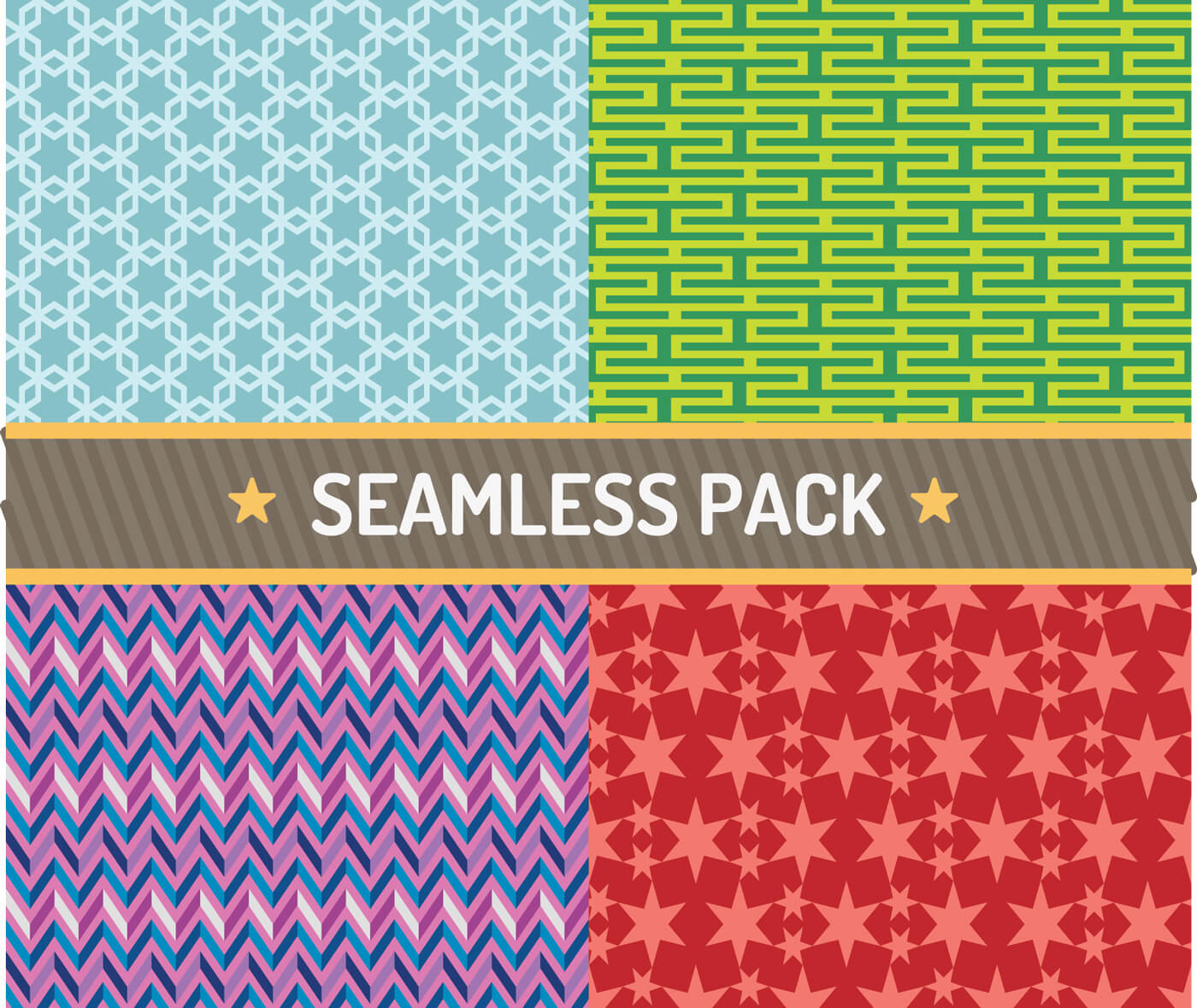 "Free vector ""Vector seamless pattern vector illustration pack"""