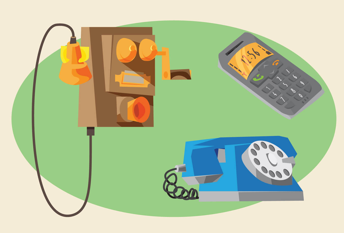 """Free vector """"Communication objects for design. Vector illustrations"""""""