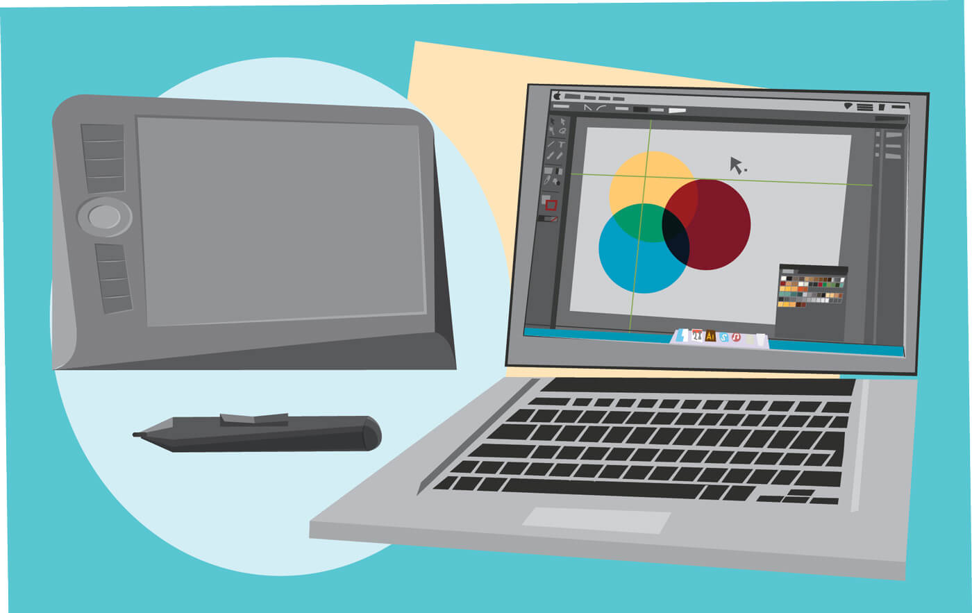 """Free vector """"Designer tools vector objects for design. Vector illustrations"""""""