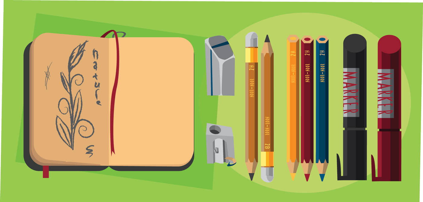 "Free vector ""Designer tools vector objects for design. Vector illustrations"""