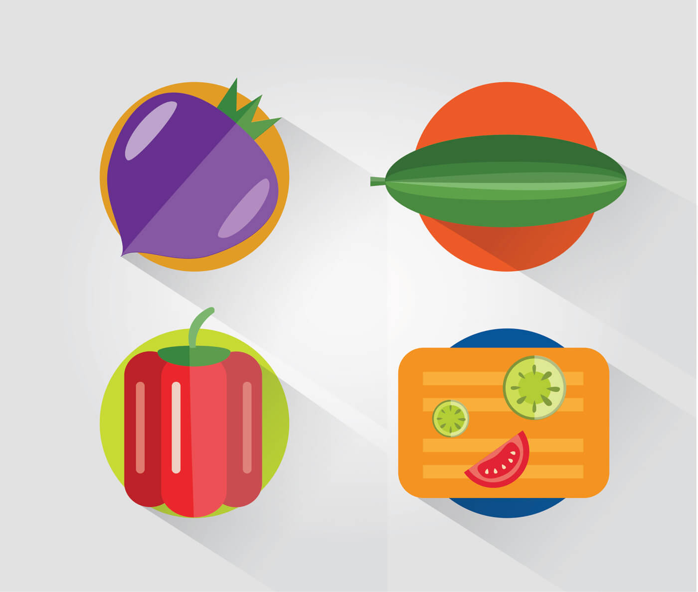 "Free vector ""Food objects for design. Vector illustrations"""