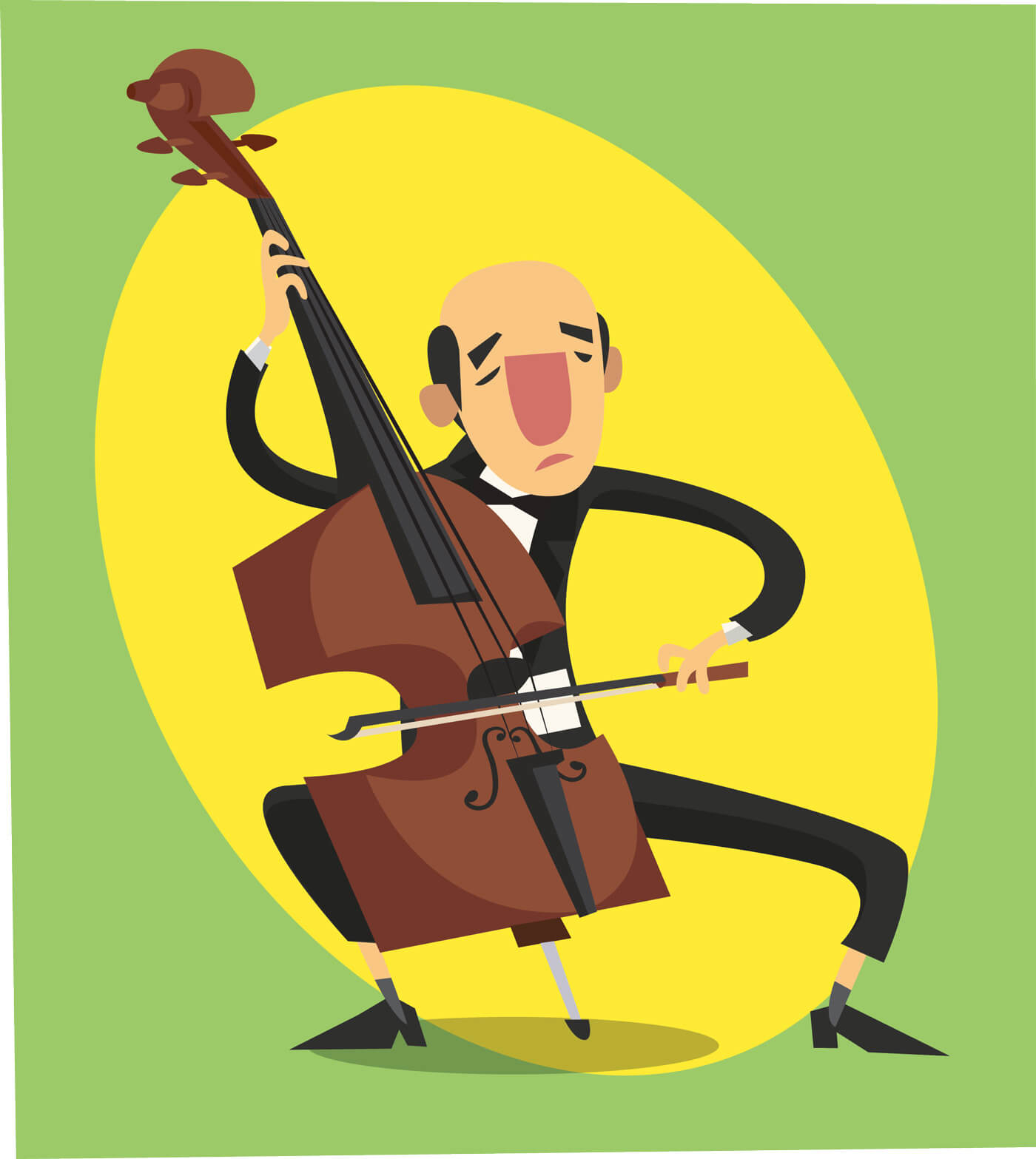 "Free vector ""Music cartoon character vector illustration for design"""