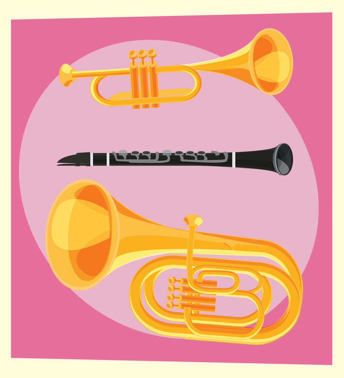"Free vector ""Music objects vector illustration for design"""
