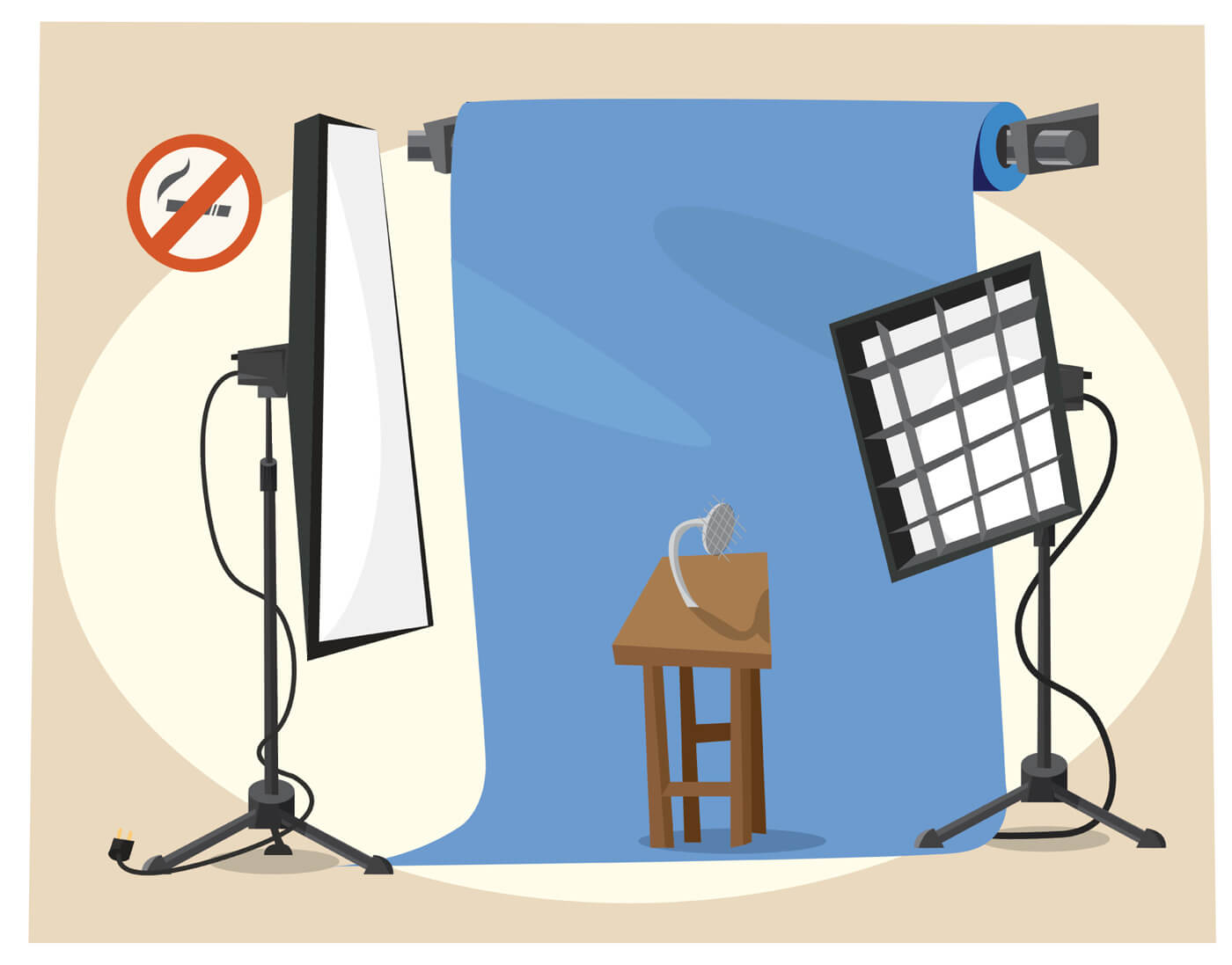"Free vector ""Photographer equipment at work. Vector illustration"""