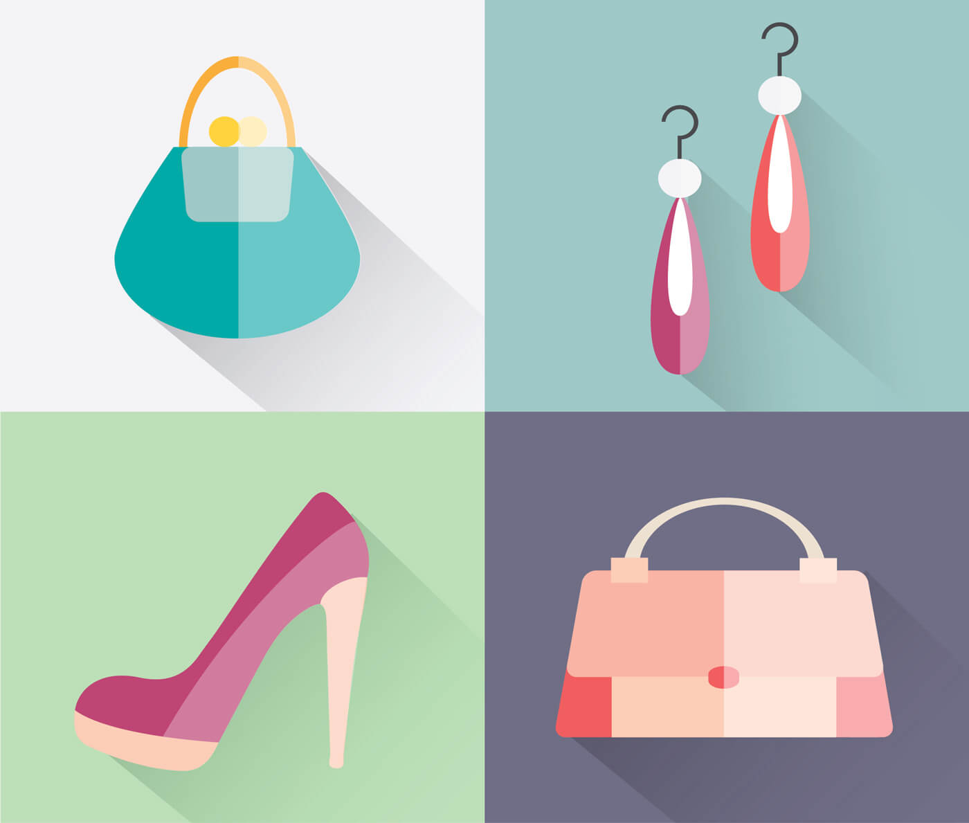 "Free vector ""Beauty fashion objects vector illustration for design"""
