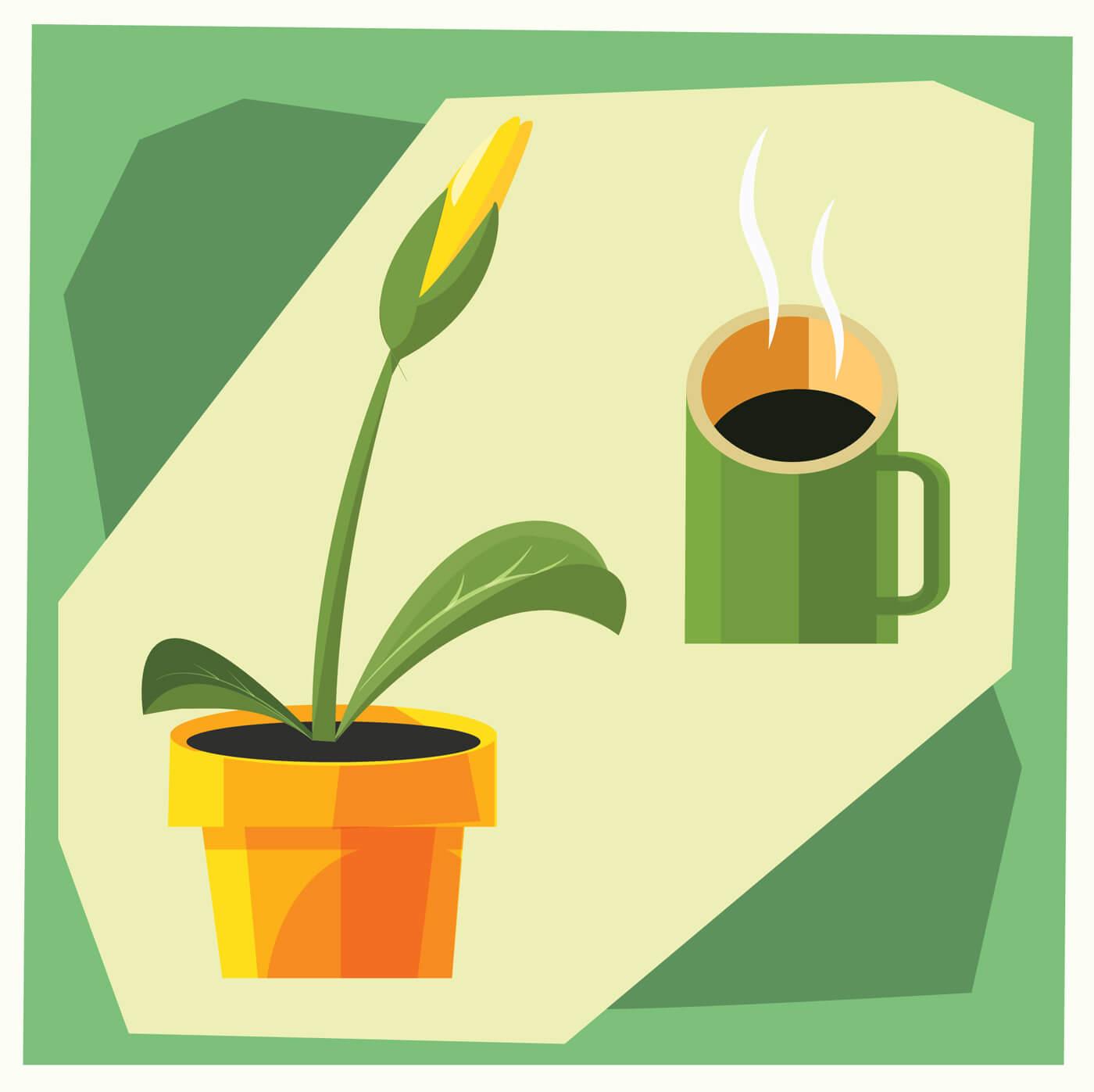 "Free vector ""Home flower vector illustration for design"""