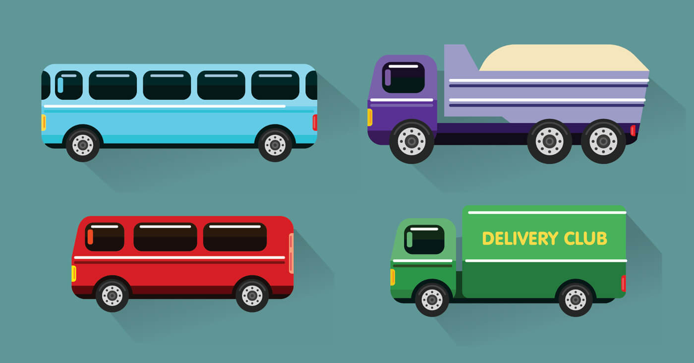 "Free vector ""Transport objects vector illustration for design"""