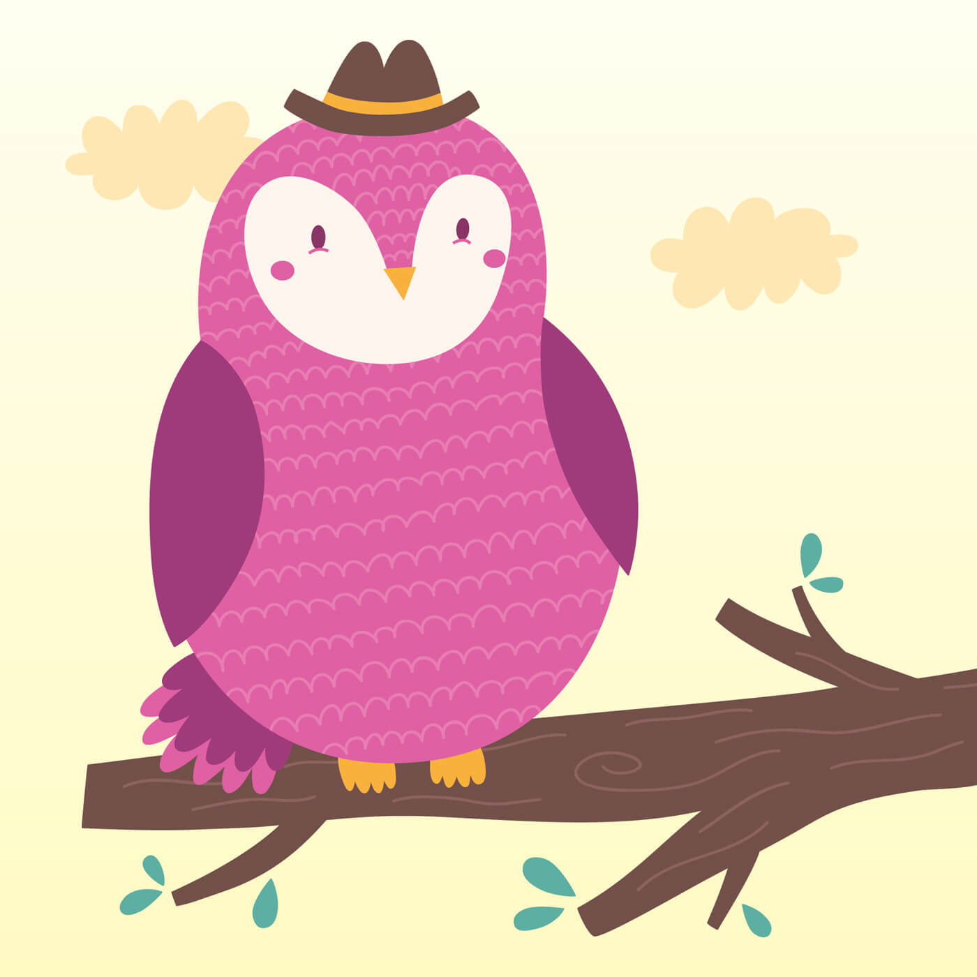 "Free vector ""Vector illustration of the owl"""