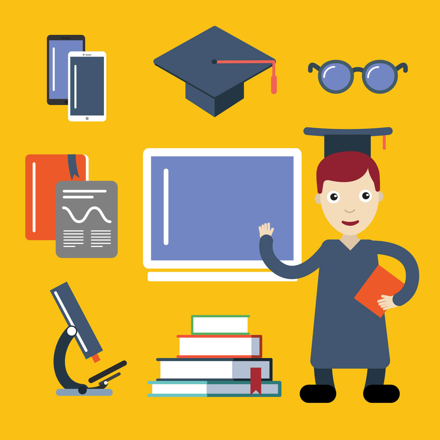 "Free vector ""Student character vector illustration for free design"""