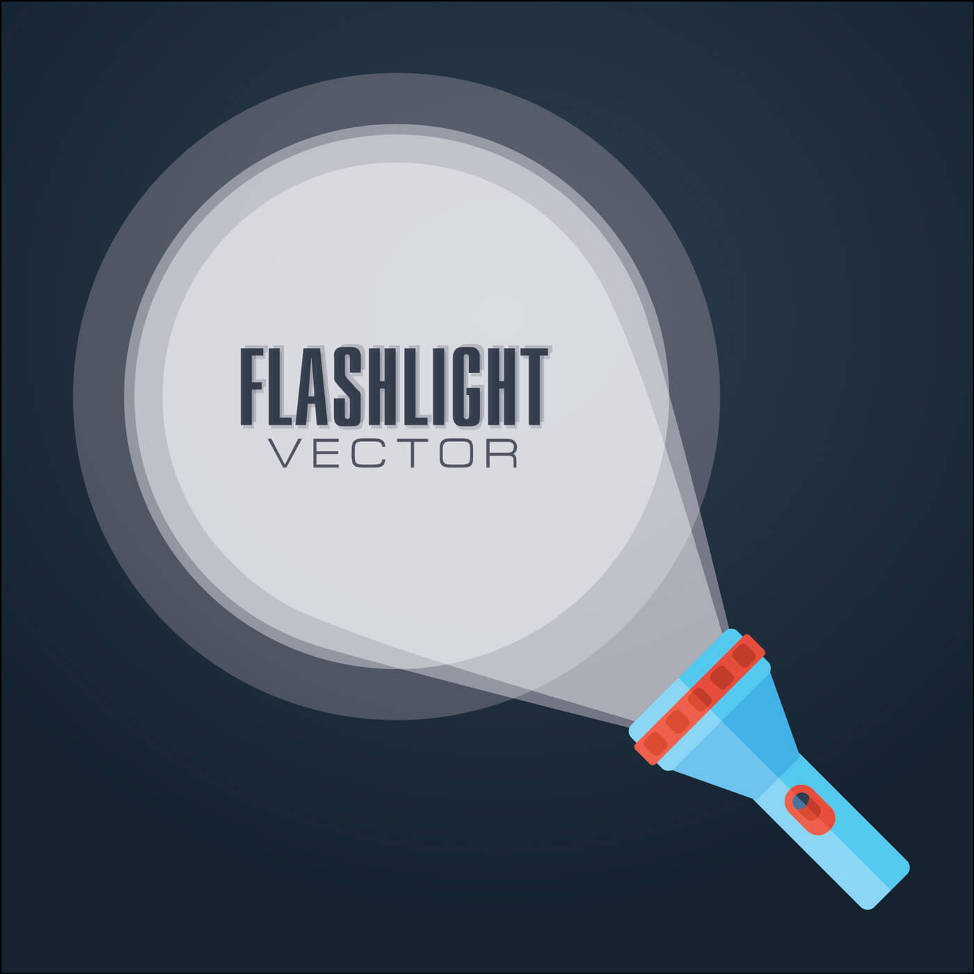 "Free vector ""Flat vector illustration flashlight."""